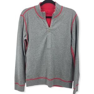 Tommy Bahama Mens M Reversible 1/4 Zip Pullover